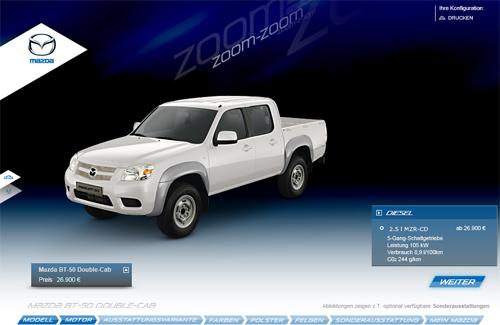 Mazda Car Configurator